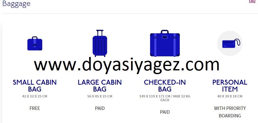 wizz air bagaj kuralları